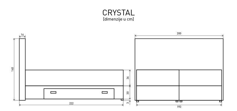 Krevet box spring Crystal